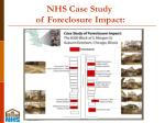 nhs case study of foreclosure impact
