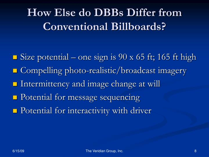 How Else do DBBs Differ from Conventional Billboards?