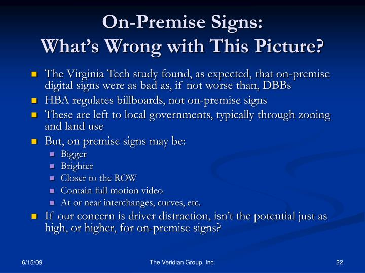 On-Premise Signs:
