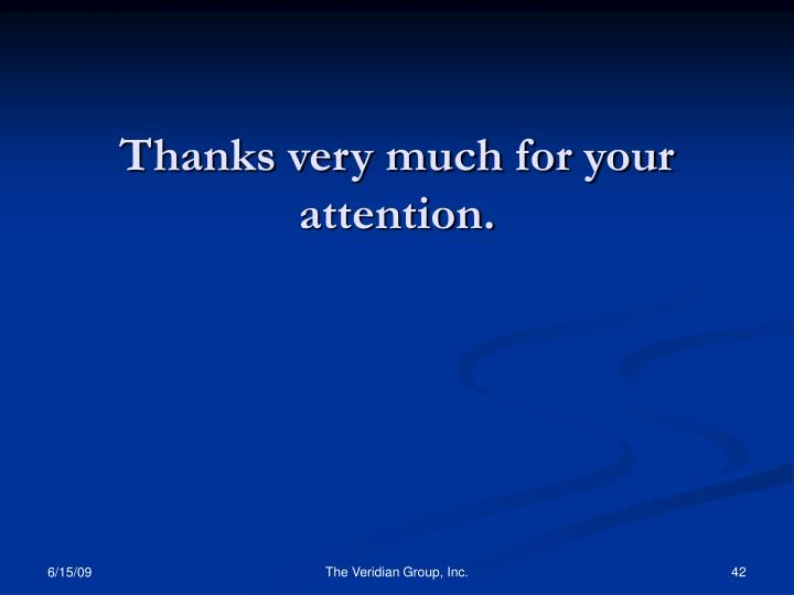 Thanks very much for your attention.