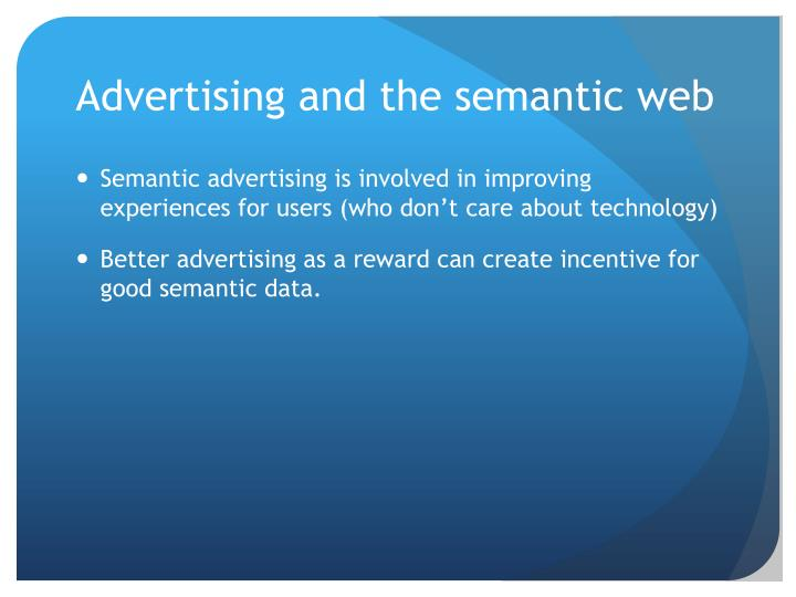 Advertising and the semantic web