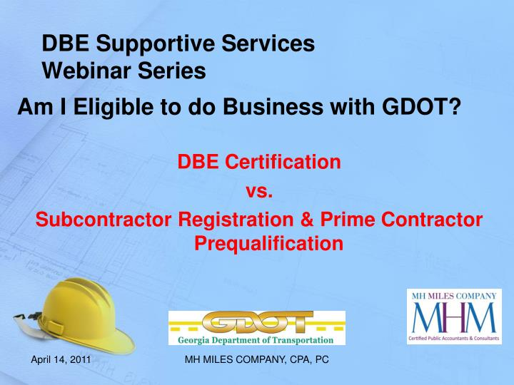 dbe supportive services webinar series n.
