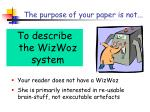 the purpose of your paper is not