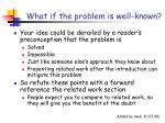 what if the problem is well known