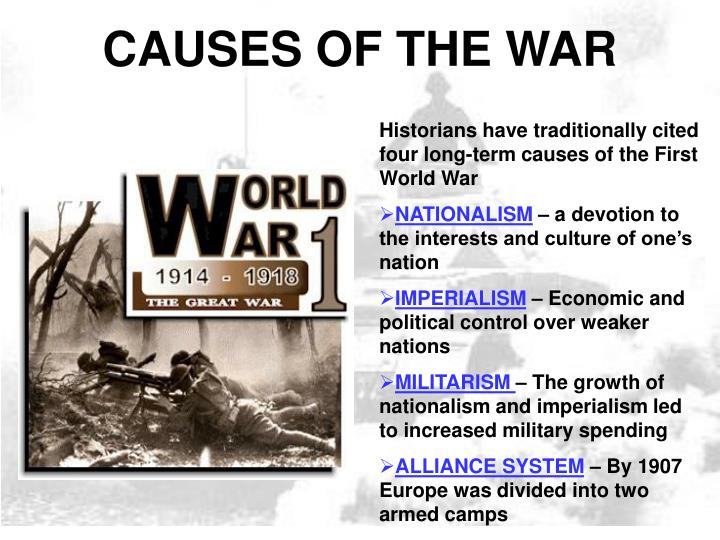 world war one essay causes Causes of world war one essay the long term and short term causes of world war 1 what was the underlying cause of world war i turning points of world war i.