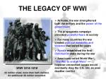the legacy of wwi