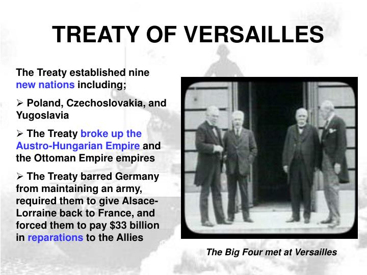 "outline treaty of versailles vs treaty Cory rutherford how did the versailles treaty help cause ww2 ""the idea is not to please the most amount of people growing up in versailles, the idea was to."