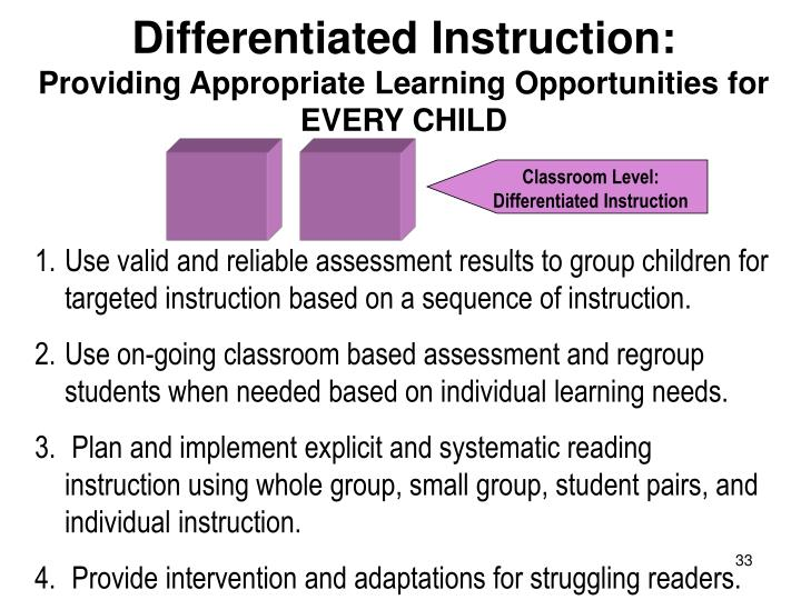Differentiated Instruction: