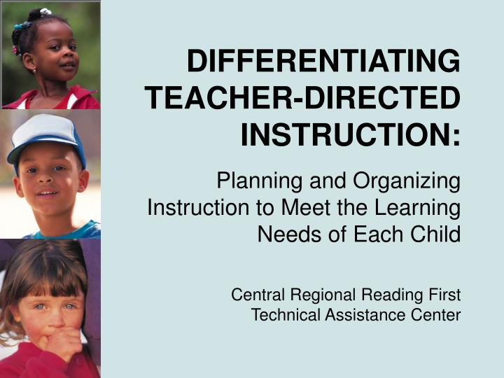 differentiating teacher directed instruction n.