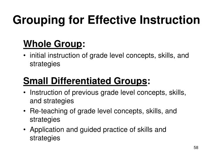 Grouping for Effective Instruction