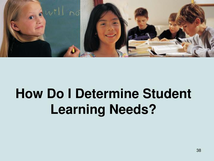 How Do I Determine Student Learning Needs?