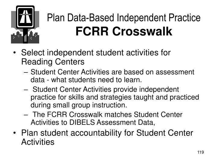 Plan Data-Based Independent Practice