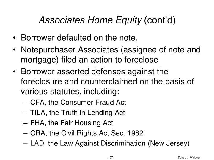 Associates Home Equity