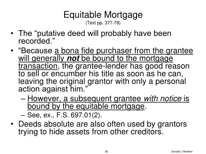 Equitable Mortgage