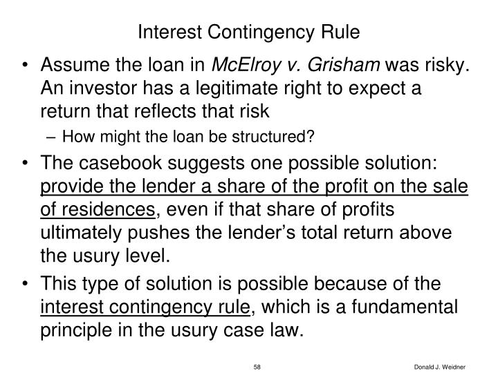Interest Contingency Rule