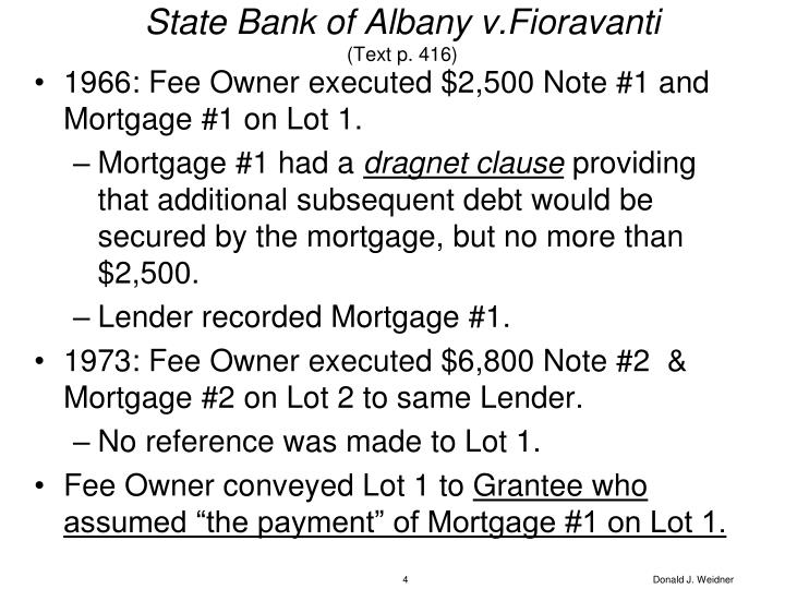 State Bank of Albany v.Fioravanti