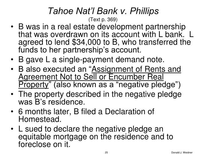 Tahoe Nat'l Bank v. Phillips