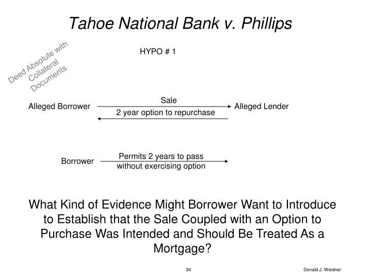 Tahoe National Bank v. Phillips
