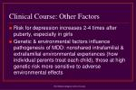 clinical course other factors