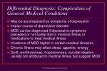differential diagnosis complexities of general medical conditions