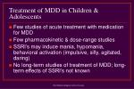 treatment of mdd in children adolescents1