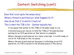 context switching cont2