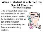 when a student is referred for special education 603 cmr 28 03 3 a