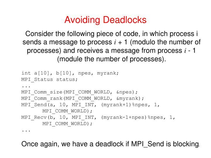 Avoiding Deadlocks