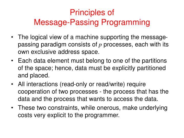 Principles of message passing programming