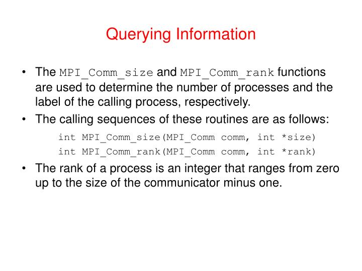 Querying Information