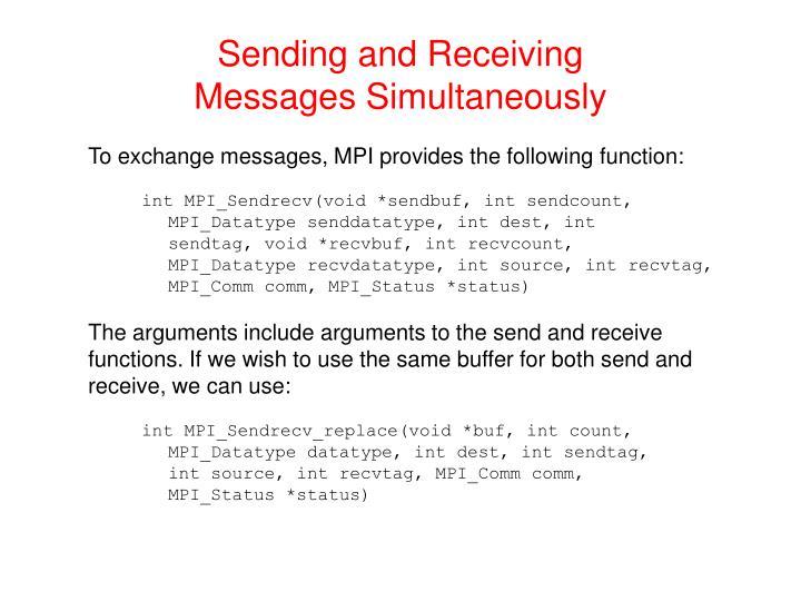 Sending and Receiving