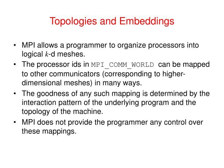 Topologies and Embeddings