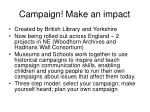 campaign make an impact