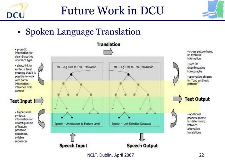 Future Work in DCU