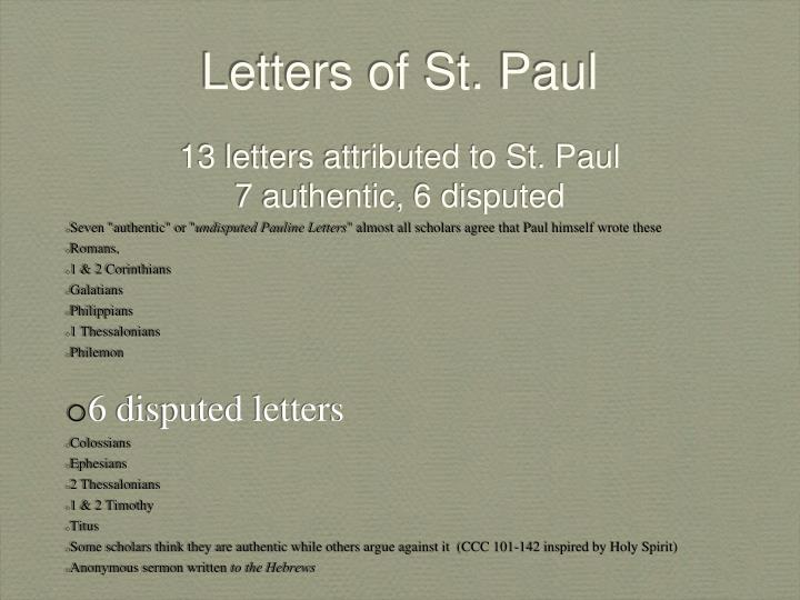 st paul s letters ppt letters of st paul powerpoint presentation id 1279862 24957