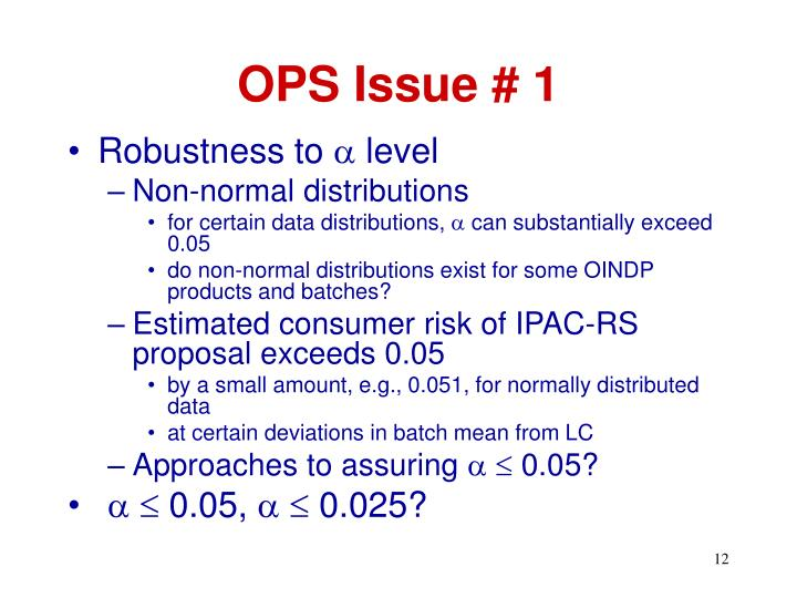 OPS Issue # 1