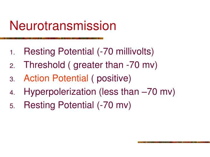 Neurotransmission