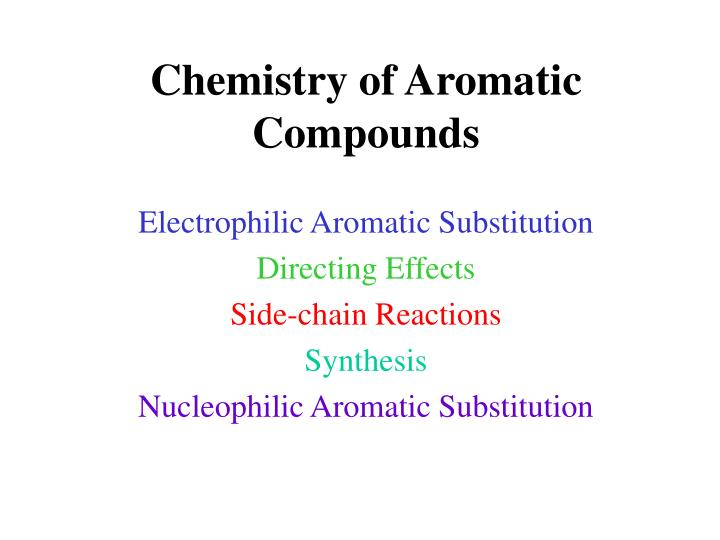 chemistry of aromatic compounds n.
