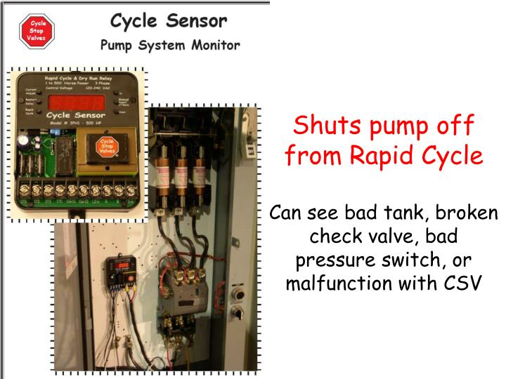 Shuts pump off from Rapid Cycle