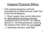 hospice physician billing