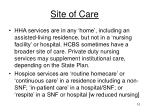 site of care
