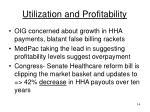 utilization and profitability