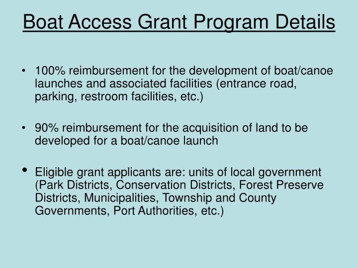 Boat Access Grant Program Details