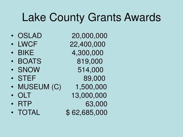 Lake County Grants Awards