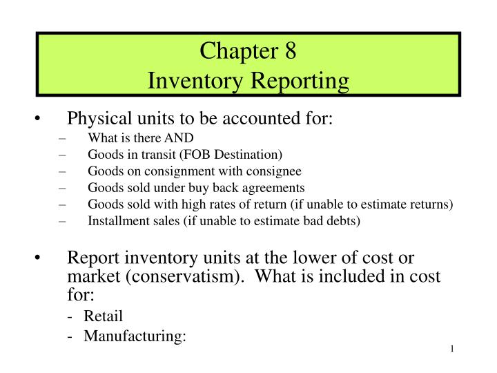 chapter 8 inventory reporting n.