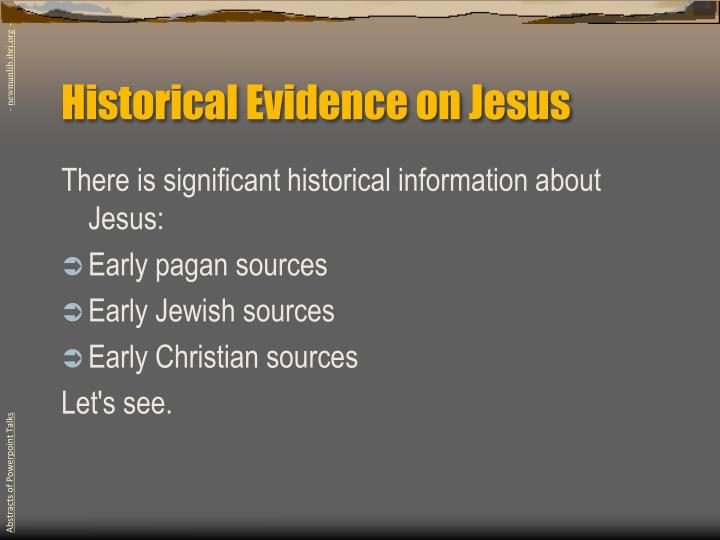 Historical Evidence on Jesus