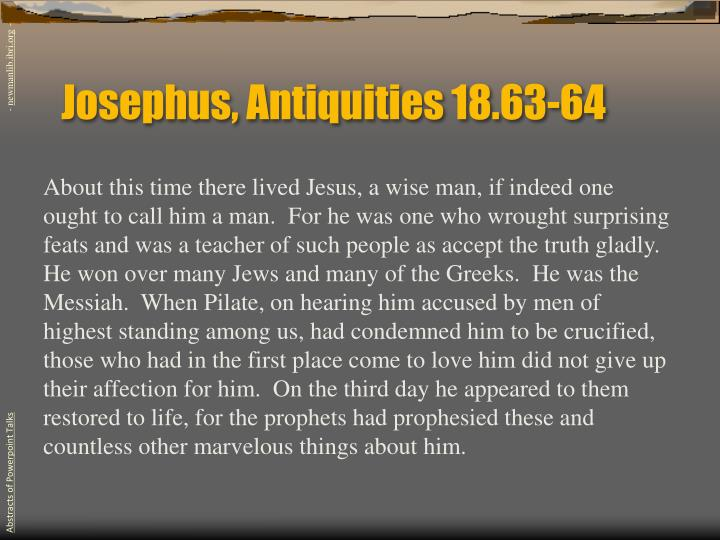 Josephus, Antiquities 18.63-64
