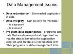 data management issues