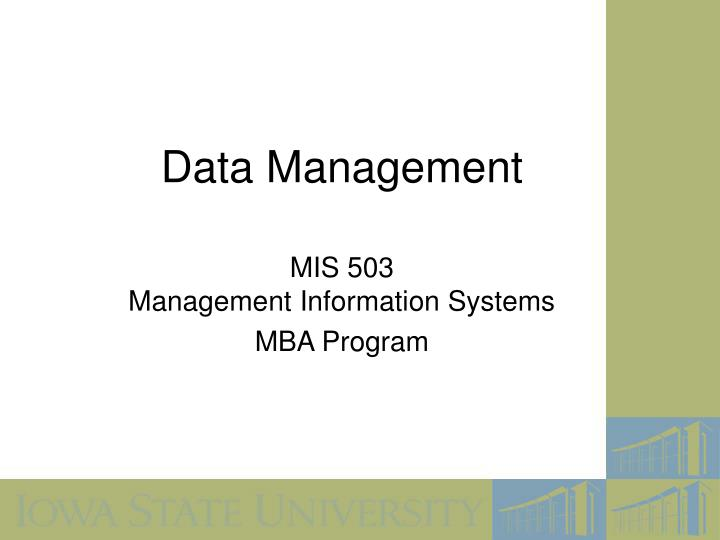 data management n.