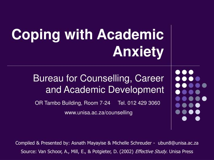 coping with academic anxiety n.